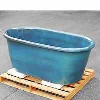 信楽焼 和風 おしゃれ 小判型幅1500×奥行き800× 高さ580ミリ 浴槽 陶器風呂釜 陶器浴槽 陶器風呂 つぼ湯 つぼ風呂 風呂釜 風呂桶 しがらきやき バスタブ 釜風呂 ふろ
