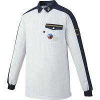 アシックス レフリーシャツLS ホワイト杢×ネイビー asics XW6315 9750の画像