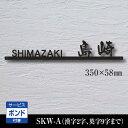 表札 ステンレス表札 切り文字【SKW-A-2B】漢字 ロー...