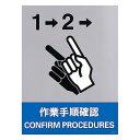 學習, 服務, 保險 - 安全標識ステッカー 160×120 内容:作業手順確認 (29141)