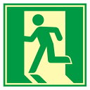 學習, 服務, 保險 - 避難誘導標識 ドア用避難標識 480mm角 (069005)