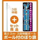 【セット商品】3m・3段伸縮のぼりポール(竿)付 のぼり旗 ゾロ目の日 (GNB-1763)