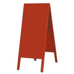 【今なら特別ポイント5倍!】 A型看板 黒板A型看板 看板・店舗用看板: 木製A型案内板 カラー:赤 (立て看板 / スタンド看板 / A型看板(A看板) / チョークで書ける / 黒板) 黒板A型看板 A型看板