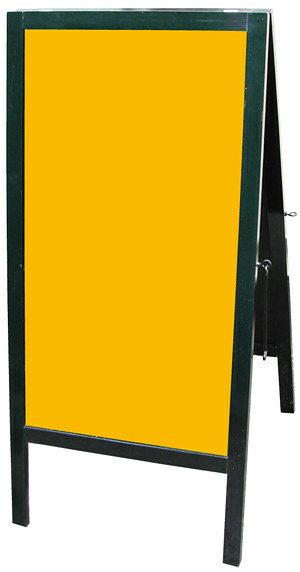 A型看板 手書き用A型看板 看板・店舗用看板: マジカルA型ボード イエロー (立て看板 / スタンド看板 / A型看板(A看板) / マーカーペンで書ける) 手書き用A型看板 A型看板