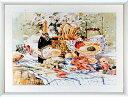 アートポスター 額入り絵画 M・シマンデル作 【レイト ブランチ】 額縁(フレーム)・ヒモ付きですぐに飾れます