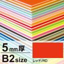 ニューカラーボード 5mm厚 B2 レッド(販促POP/B2サイズ)