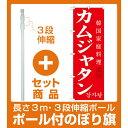 【セット商品】3m・3段伸縮のぼりポール(竿)付 韓国料