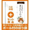 【セット商品】3m・3段伸縮のぼりポール(竿)付 のぼり旗 カンパーニュ (SNB-2902)