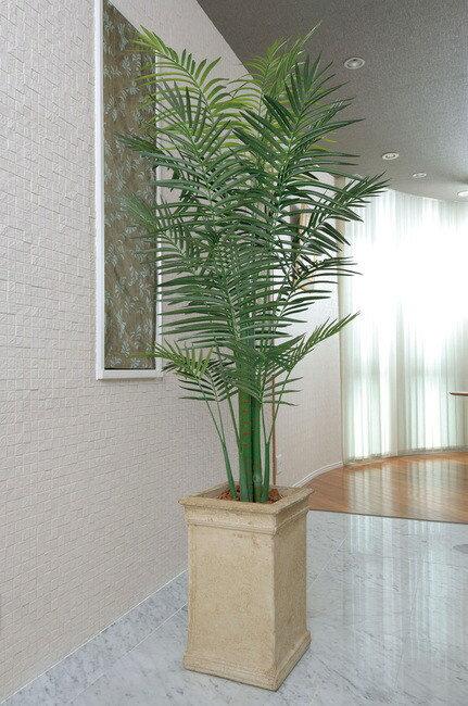 トロピカルアレカパーム (人工観葉植物) 高さ230cm 光触媒 (125B600) (※送料見積り) 【人工観葉植物・造花・フェイクグリーン/フロア(鉢型)用 人工観葉植物(光触媒 )】