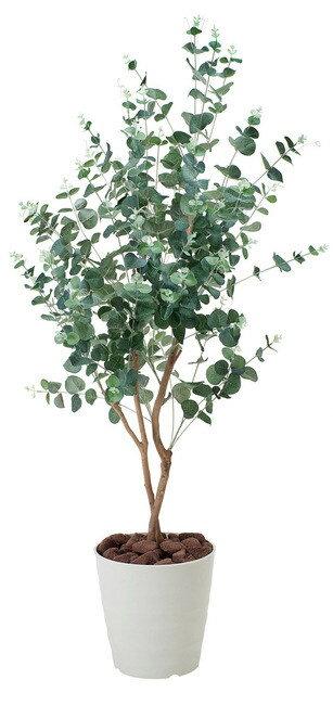 【送料無料♪】ユーカリ (人工観葉植物) 高さ125cm 光触媒 (370A180) 【人工観葉植物・造花・フェイクグリーン/フロア(鉢型)用 人工観葉植物(光触媒 )】 明るい空間の中でグリーンが程良くアクセントになります。