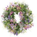 ミックスリースL (壁掛タイプ) (造花) 高さ30cm 光触媒 (店舗用品/光触媒 人工観葉植物・造花・フェイクグリーン/壁掛け/壁面用)