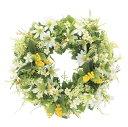 ミックスリースW (壁掛タイプ) (造花) 高さ30cm 光触媒 (店舗用品/光触媒 人工観葉植物・造花・フェイクグリーン/壁掛け/壁面用)