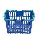 ミニバスケット グッピー SL-1 ディープブルー(店舗用品/運営備品/ショッピングカート・バスケット/買い物バスケット)