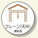 作業管理関係ステッカー クレーン (天井) (安全用品・標識/安全標識/クレーン・玉掛関係標識)