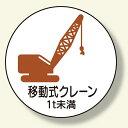 作業管理ステッカー 移動クレーン1t未 (安全用品・標識/安全標識/クレーン・玉掛関係標識)