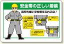 安全帯関係標識 安全帯の正しい着装 (安全用品・標識/安全標識/安全帯使用標識)
