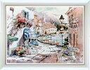 アートポスター 「ウォーターフロント ビレッジ (S)」 M・シマンデル作(ポスターフレーム/画家名別アートポスター/サ行)
