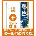 【セット商品】3m・3段伸縮のぼりポール(竿)付 のぼり旗 藤稔 (SNB-1373)