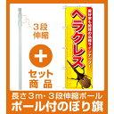 【セット商品】3m・3段伸縮のぼりポール(竿)付 のぼり旗 ヘラクレス (GNB-593)