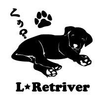 セミシルエットワンポイントステッカーラブラドールレトリバーラブラブラドールステッカー4犬犬ステッカー