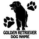 【送料無料】 ゴールデンレトリバー シルエットステッカー ゴールデンレトリバーステッカー  シール 3 ゴールデンレトリバー ステッカー デコシール犬 犬ステッカー ペット ペットステッカー ステッカー