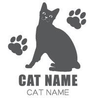 猫ステッカー 猫 ステッカー ネコ ねこ シール ペットネームを入れられる CAT 12 猫カッティングステッカー