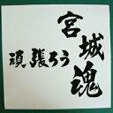 【送料無料】 頑張ろう 宮城魂 東日本大震災復興応援ステッカー 16 デカール