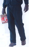 裏フリースと中綿でWの暖かさ防寒パンツネイビー