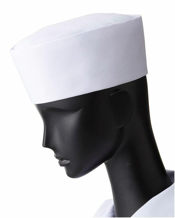 丸帽(ホワイト)和帽子ポリエステル65%綿35%フードサービス和食
