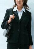 黑色也容易获得一种内心清楚海军部署了两个彩色外套,穿上制服夹克业务[公司]的建议[【】『大人気!美シルエット事務服ジャケット』シワになりにくいストレッチ素材 オールシーズン ホームクリーニング セットスカー