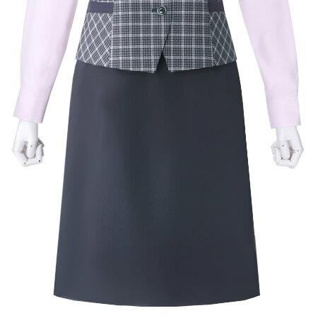 プチプラ!Aライン風セミタイトスカート(ネイビー/ブラック/チャコールグレイ)ストレッチ撥水加工 オールシーズン用シンプル制服