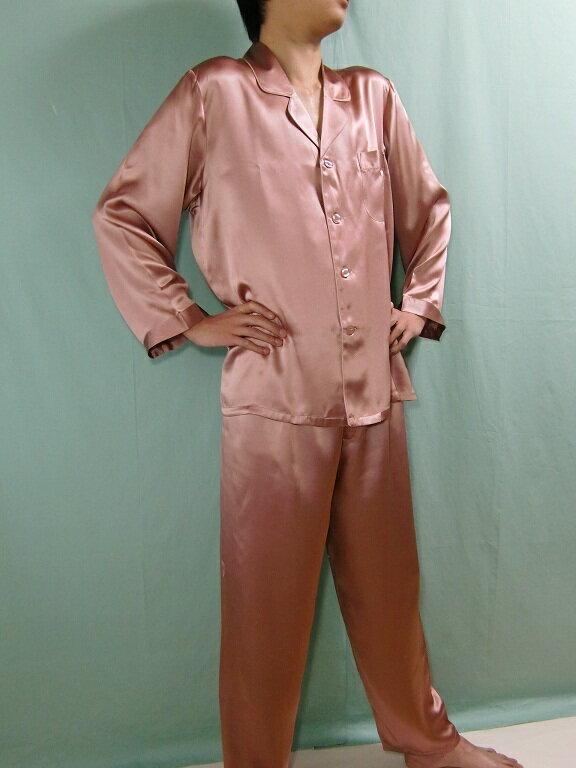 【送料無料】シルクパジャマ長袖 【小豆色】シルク100%M→XXXL 大きいサイズもあり《ブランド嬌奴》紳士用20色柄【送料無料】【あす楽対応】でお届けいたします《ブランド嬌奴》の商品については、製造中止により在庫限りになりました。