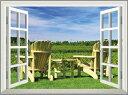オーダーメイド 【窓 ウィンドーシリーズ防水[横長]】 高80cm x 120cm ウォール ステッカー ポスター シール 裏が透けない 自然 はがせる 壁紙 壁シール  お風呂 風景 はがせる壁紙 壁