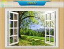 オーダーメイド 【窓 ウィンドーシリーズ防水・(横長)】ウォール ステッカー ポスター シール 裏が透けない 自然 はがせる 壁紙 壁シール |お風呂 風景 はがせる壁紙 壁