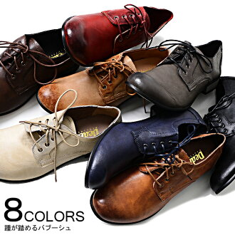 """""""DEDES スムースバブーシュ (all eight colors of shoes )/ """"[black / camel / navy / dark brown / gray / red / ivory])"""