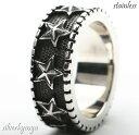 ステンレス素材 スターリング 星 指輪 五角形 五芒星