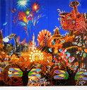 【ヒロヤマガタ】「メインストリートエレクトリカルパレード」 版画(シルクスクリーン) 15号大 500部 【楽天・書画肆しみづ】