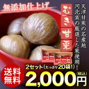 送料無料 そのままおいしい! むき甘栗 10袋×2セット 天津甘栗 くり クリ 栗本来の自然な味わい