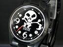 海賊の象徴スカルウォッチ!自動巻腕時計【送料無料】【TAVORIC】アリラジャ腕時計SSブラック