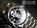 海賊の象徴スカルウォッチ!自動巻腕時計【送料無料】【TAVORIC】アリラジャ腕時計SSシルバー