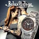 楽天シンシア-腕時計&おもしろ雑貨腕時計 メンズ おしゃれ 防水 送料無料 NATOベルト クロノグラフ ブランド 人気 RELAX vintage メンズ 腕時計 リラックス ヴィンテージ メンズ腕時計 クロノ ステンレス 腕時計とおもしろ雑貨のシンシア プレゼント ギフト 【あす楽対応可】