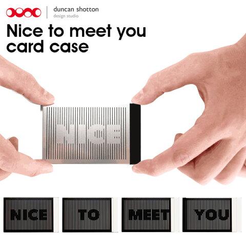 duncan shotton/ダンカンショトン Nice To Meet You 名刺入れ カードケース スライド アニメーション 【メール便OK】【あす楽対応可】 腕時計とおもしろ雑貨のシンシア プレゼント