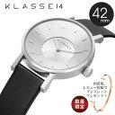 【安心と信頼の正規販売店】 2年保証 KLASSE14 クラス14 クラッセ 腕時計 メンズ レディース 42mm VOLARE SILVER VO14SR00...
