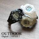 腕時計 アウトドア デジタル DT151 コンパクト ブラッ...