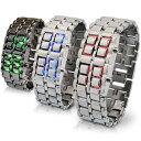 【ポイント10倍】 ベルト調整器具付き LEDブレスウォッチ LED Bracelet Watch メンズ レディース 腕時計 腕時計とおもしろ雑貨のシンシア プレゼント 【あす楽対応可】