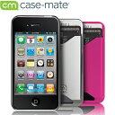 Case mateケースメイト iPhone4用カードホルダー付ハードケース(液晶保護シート付き)