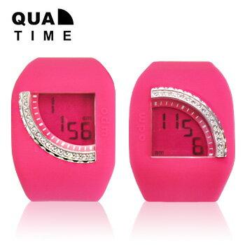 オーディーエム o.d.m DD128C Quadtime クアッドタイム ジルコニア メンズ レディース腕時計 送料無料 腕時計のシンシア プレゼント ジルコニア輝く扇型のディスプレイの腕時計【遊び】