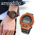 Armadillo/アルマジロ arm001 本革レザーケース付き G-SHOCK DW-6900-1 デジタル CASIO カシオ MZ99 腕時計とおもしろ雑貨のシンシア