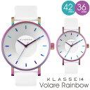正規販売店 2年保証 KLASSE14 クラス14 クラッセ 腕時計 Rainbow white ホワイト 42mm 36mm VOLARE VO15TI003...