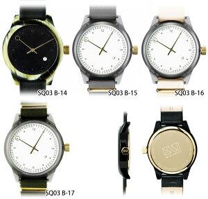 squarestreetMINUTEMANSQ03腕時計TWOHANDBシリーズレザーベルトメンズレディースユニセックスMen'sレディースうでどけいブランドプレゼントギフト【あす楽_土曜営業】腕時計とおもしろ雑貨のシンシア